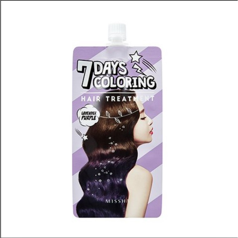Thuốc nhuộm tóc MISSHA Seven Days Coloring Hair Treatment (Lavender Purple) 25ml