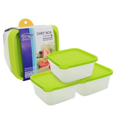 Bộ 3 hộp nhựa Chef box 850ml hàng Thái Lan