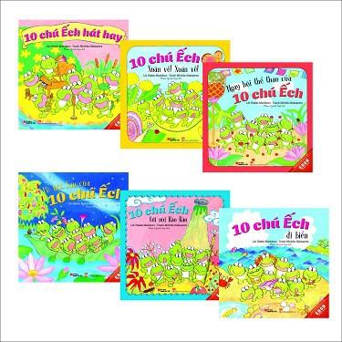 Sách - Ehon 3 - 6 tuổi: Combo 10 chú ếch phần 2