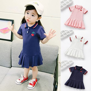 Đầm Polo dễ thương cho bé gái