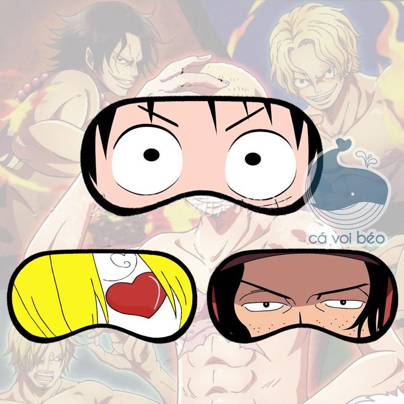 [SALE GIÁ XƯỞNG] Bịt mắt ngủ One piece Đảo hái tặc Luffy Zoro Sanji bịt mắt manga bịt mắt anime