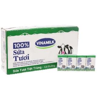 Thùng Sữa Tươi 100% Vinamilk 110ml Các Loại