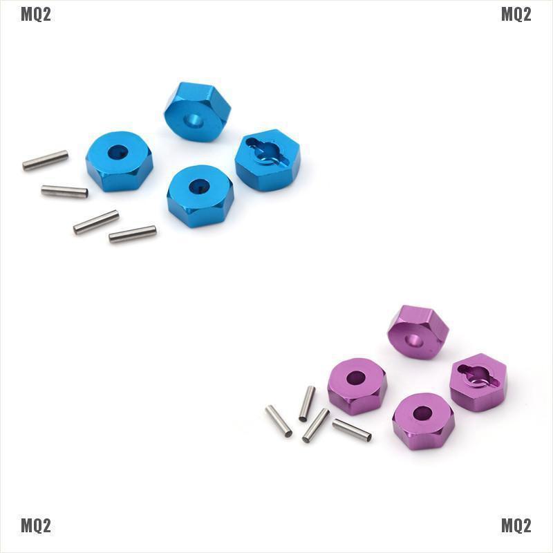 {MQ2}4pcs Aluminum Wheel Hex Nut 12MM With Pins Drive Hubs HSP 1/10 Upgrade Parts
