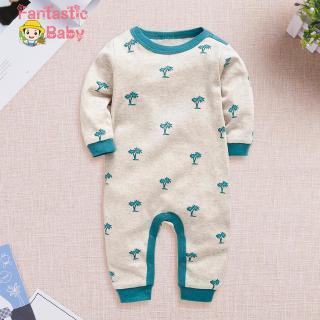 Set áo liền quần phối họa tiết cây thông dễ thương cho trẻ sơ sinh