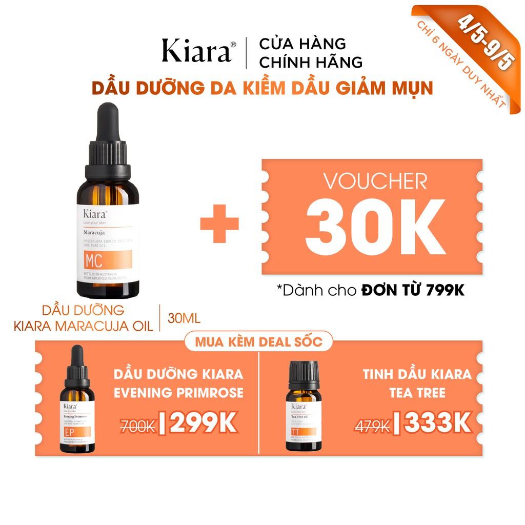 Dưỡng Da Kiềm Dầu Giảm Mụn Cho Da Dầu Kiara Maracuja Oil 30ml