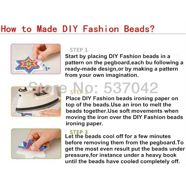 1000pcs 2.6mm Hama/Perler Beads Toy Kids Fun Craft DIY