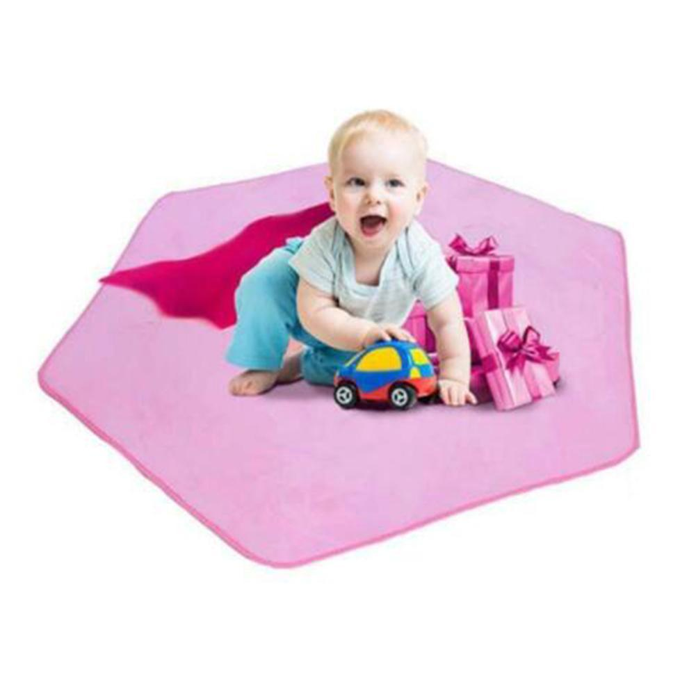 Rug For Kids Children Mat Play Princess Castle Indoor Tent Hexagon Carpet