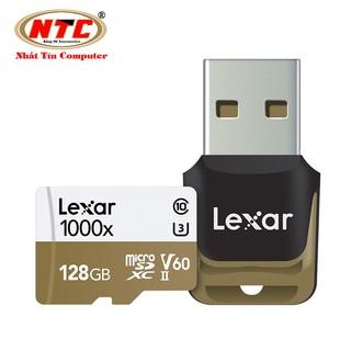 Thẻ nhớ microSDXC Lexar Professional 128GB 1000x UHS-II U3 V60 Read 150MB/s / Write 90MB/s (Đen) - Kèm reader 3.0