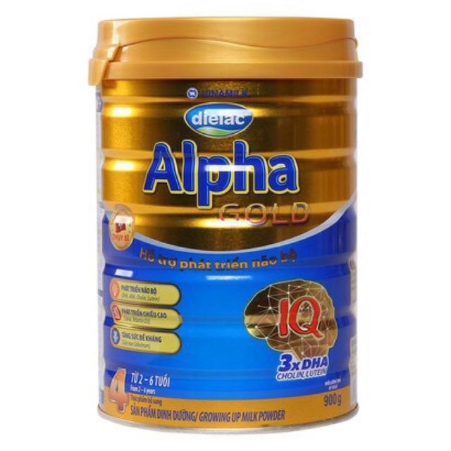 Sữa dialac Alpha gold 4 900g cho bé từ 2-4 tuổi