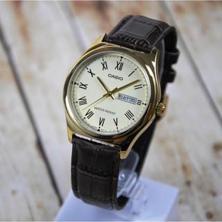 HOT Đồng hồ nam Casio MTP-V006GL-9BUDF Chính hãng - Dây da - Mặt La mã - Mạ Vàng Chinh Hãng