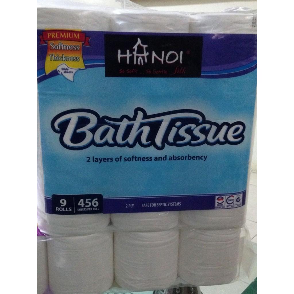 Giấy cuộn Hà Nội silk BathTissue bịch 9 cuộn
