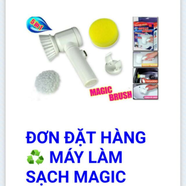 Máy làm sạch Magic Brush 5in1 - 2391284 , 113532185 , 322_113532185 , 165000 , May-lam-sach-Magic-Brush-5in1-322_113532185 , shopee.vn , Máy làm sạch Magic Brush 5in1