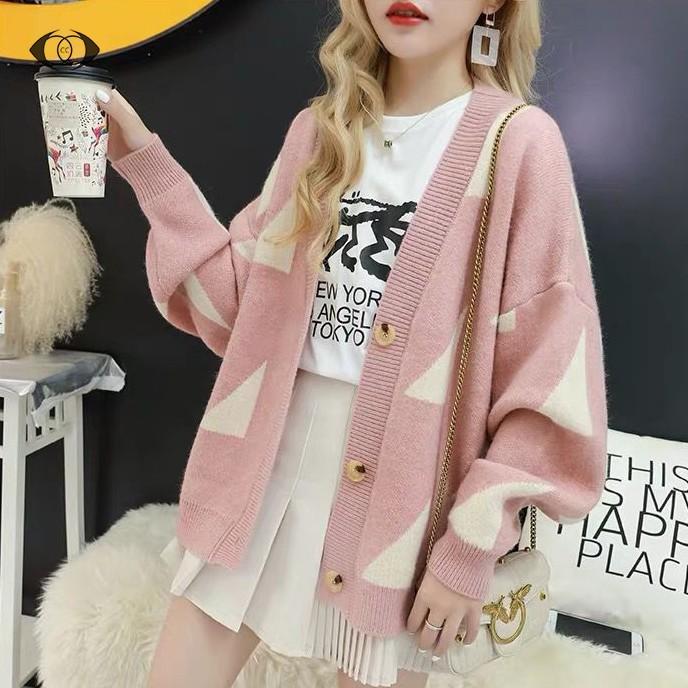 Áo cardigan dệt kim dài tay thời trang xinh xắn cho nữ