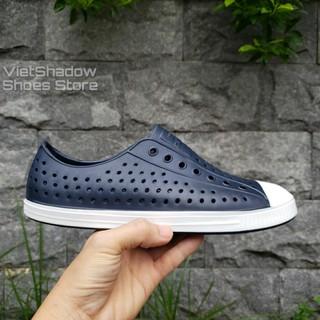 [Mã FASHIONRNK giảm 10K đơn 50K] Giày nhựa đi mưa nam nữ - chất nhựa xốp siêu nhẹ, không thấm nước - Màu xanh Navy thumbnail