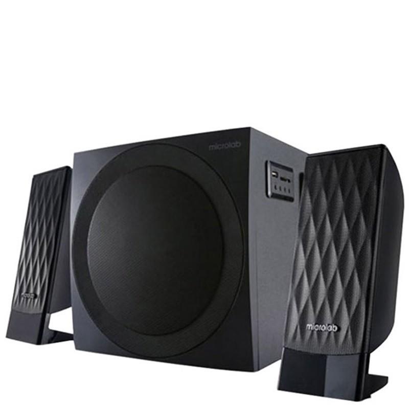 Loa máy tính cao cấp Microlab M300 / 2.1 Bass Treble nghe cực hay - Tặng Thiết Bị Kết Nối...