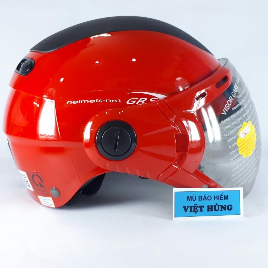 BIG SALE - Mũ bảo hiểm GRS A102k (Đỏ line trắng)