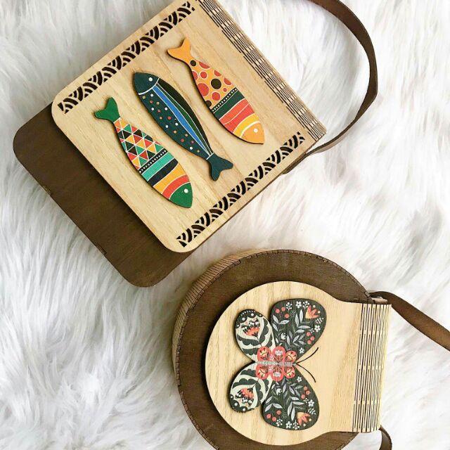 Túi gỗ vintage - túi gỗ hand made