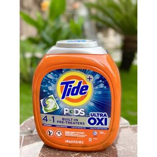 Viên giặt Tide ULTRA OXI 4IN1 104 viên/thùng