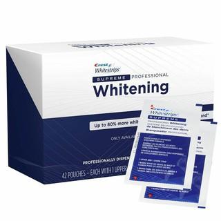 [10 gói lẻ] Miếng dán trắng răng Crest 3D White Supreme Professional