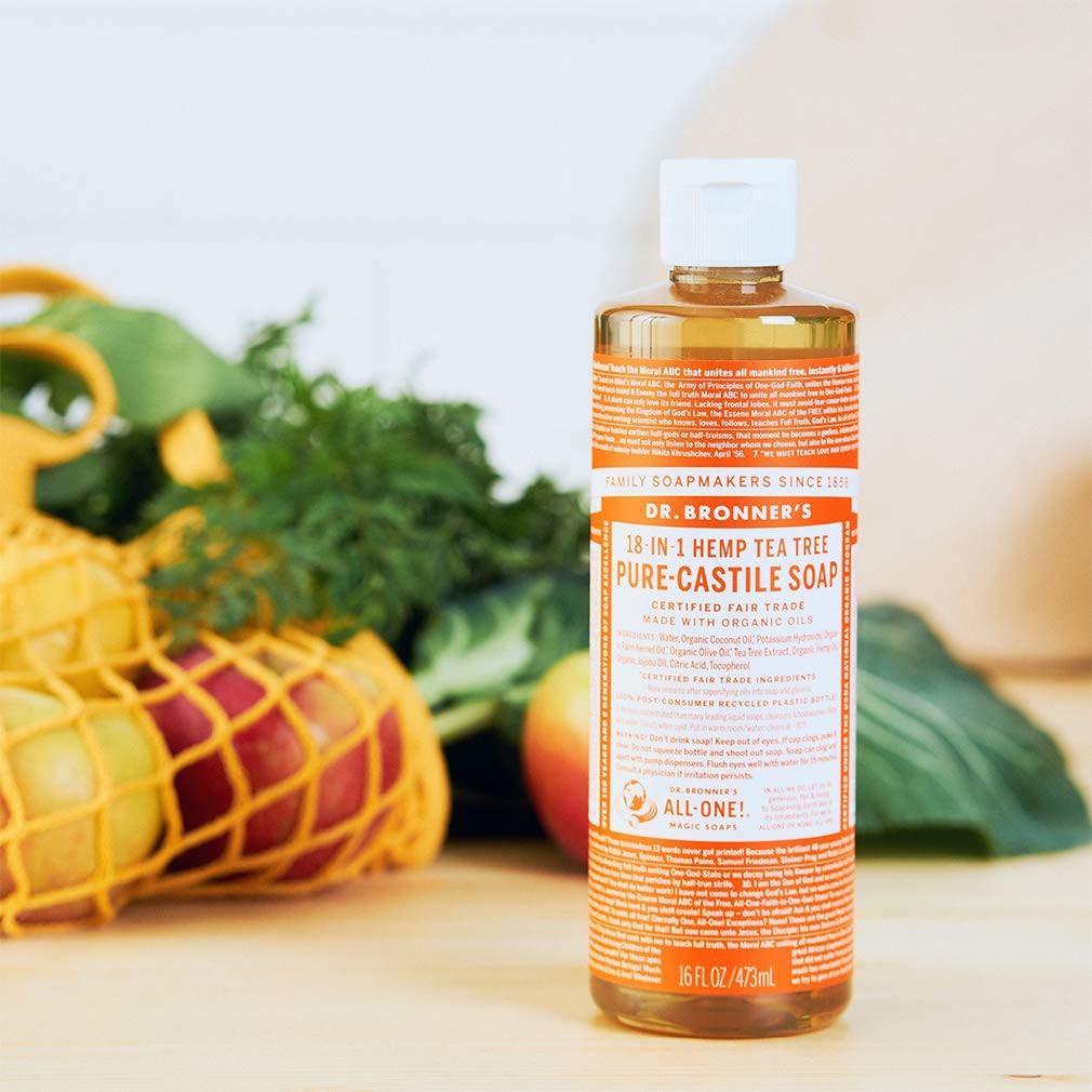 Xà phòng hữu cơ đa năng Dr Bronner's 18 công dụng - Castile soap 18 in 1 - 8oz & 16oz