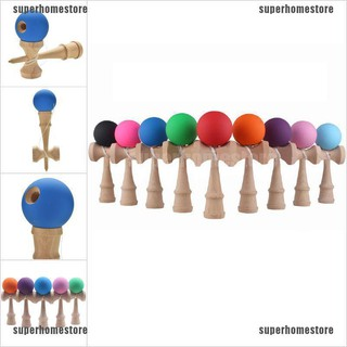 [COD]1 Pcs Kendama Japanese Traditional Game Skillful Wooden Toy Rubber Paint Ball