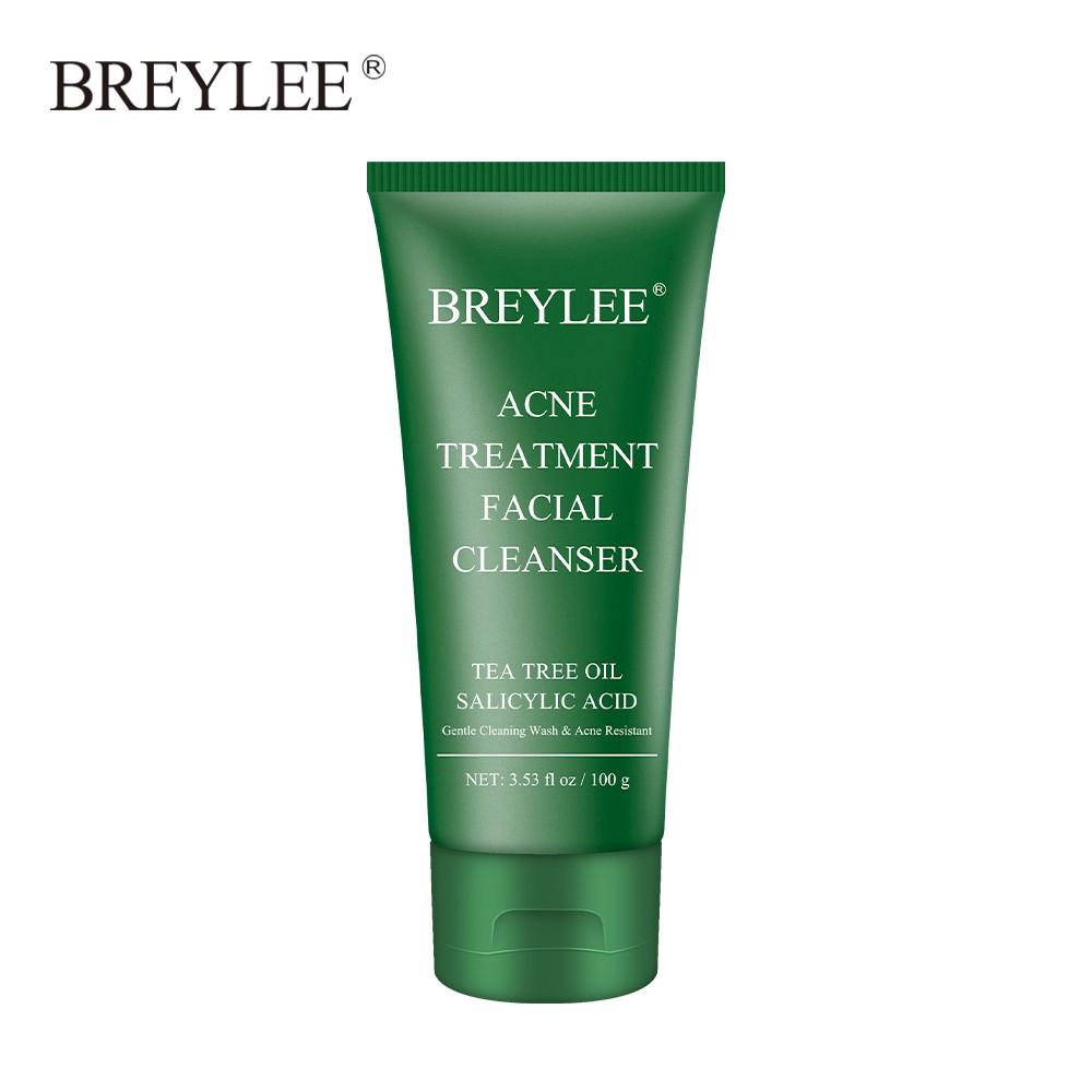 Sữa rửa mặt BREYLEE cải thiện da mụn đầu đen kiềm dầu làm sạch da 100g