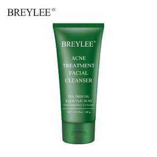 Hình ảnh Sữa rửa mặt BREYLEE cải thiện da mụn đầu đen kiềm dầu làm sạch da 100g-0