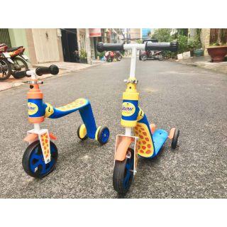 Xe chòi+scooter(trượt) 2in1 hươu abbott grow