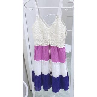 Váy 2 dây vintage đi biển siêu xinh