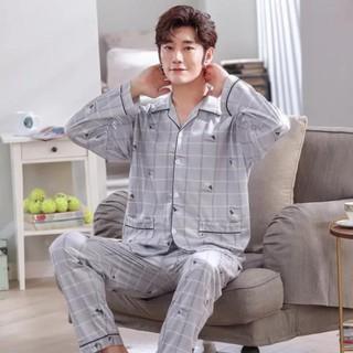 [Hàng order ] Bộ Pijama nam cotton chất đẹp mát