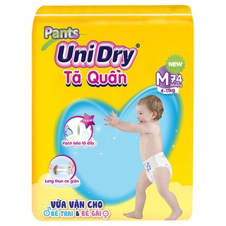 Tã Quần Dán Unidry Ultra Jumbo M74 L68 XL62 XXL56 XXL30 M76