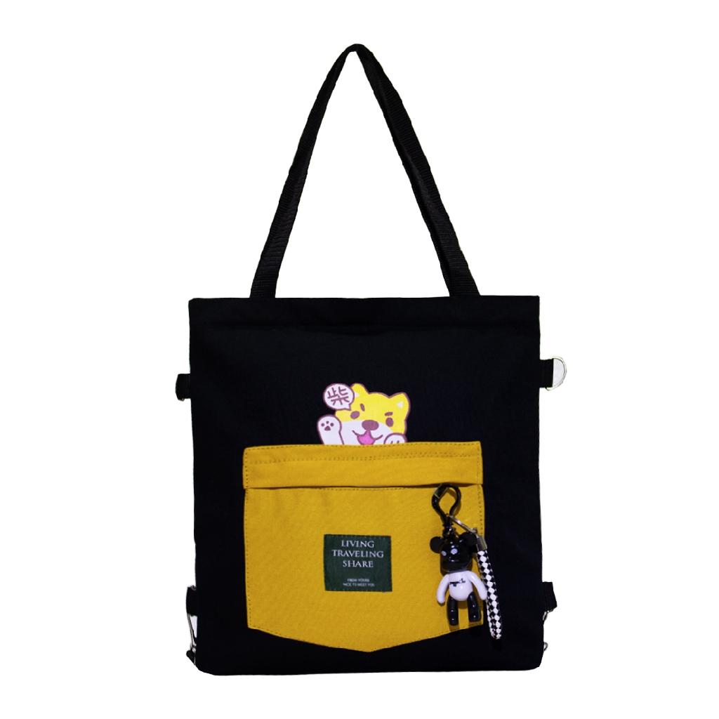 Túi Vải Tote Đeo Chéo Đeo Balo XinhStore Hình Chó Con