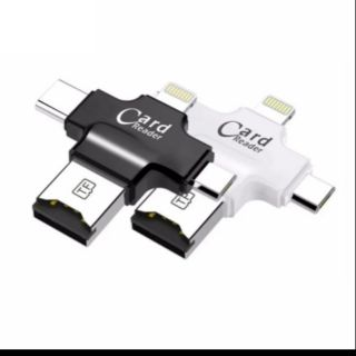 [Mã ELFLASH5 giảm 20K đơn 50K] Đầu Đọc Thẻ Nhớ Micro SD TF Cho Android IPhone 7 6s 8 Plus 4in1 đa năng tiện dụng