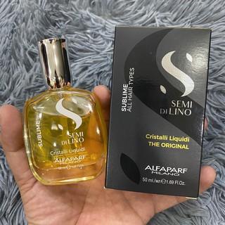 Tinh dầu SDL bóng mượt cho mọi loại tóc Semi Di Lino Cristalli Liquidi Alfaparf (2018) thumbnail