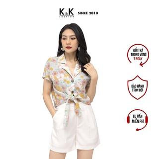 [Mã KKFAK20 Giảm 10%] Áo Sơ Mi Họa Tiết Hè Cột Eo K&K Fashion ASM06-04 Chất Liệu Vải Cotton thumbnail