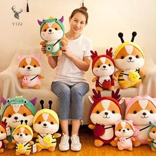 Y1ZJ Cute Squirrel Shiba Inu Dog Plush Toy Stuffed Soft Animal Pillow Christmas Gift for Kids Valentine &VN