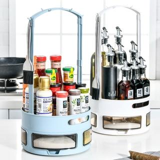 Kitchen rotating seasoning box household finishing box seasoning bottle cosmetic storage box Cosmetics storage rack outwalk