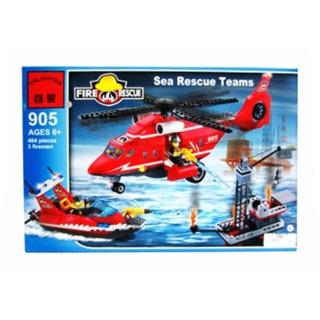 Hộp đồ chơi lắp ráp máy bay cứu hộ Enlighten 905 cho bé trai
