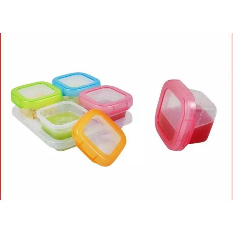 Ninikids: Set 6 hộp trữ thức ăn Baby food 60ml/hộp