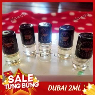 DUBAI 2ML ngẫu nhiên HÀNG LOẠI 1 nước hoa mùi hương nồng nàn, sang trọng thumbnail