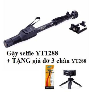 Gậy chụp hình YT1288 + tặng chân đế YT288 chuyên nghiệp