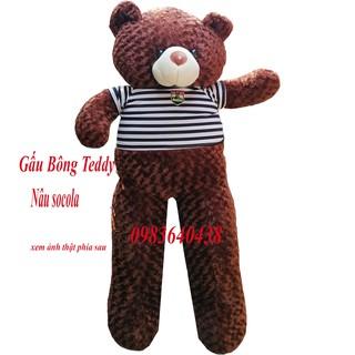 Gấu Bông Teddy khổ vải 1m8 chiều cao 1m6 hàng loại 1 cực đẹp giá chất