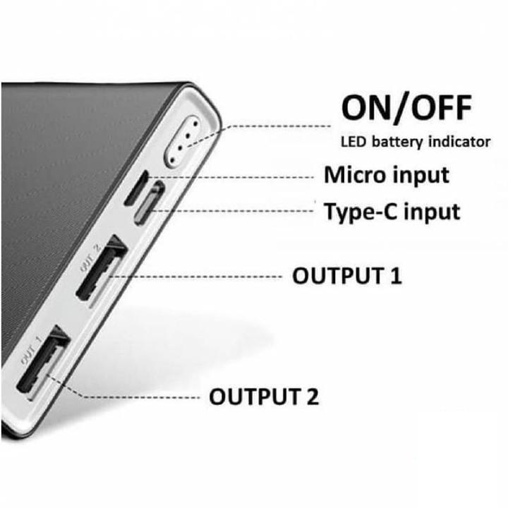 Pin Dự Phòng 10000mah Remax RPP-149 Bodi Series Fast Charing 2.1A tích hợp 2 cổng USB