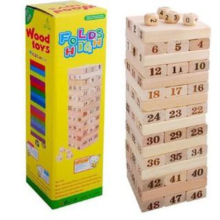 Đồ chơi rút gỗ Jenga lớn hộp vàng