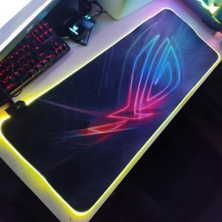 🎯 Mouse Pad, bàn di chuột, lót di chuột tích hợp Led RGB ROG Version 2 sáng viền, kích thước 80cm x 30cm dày 4mm giá t