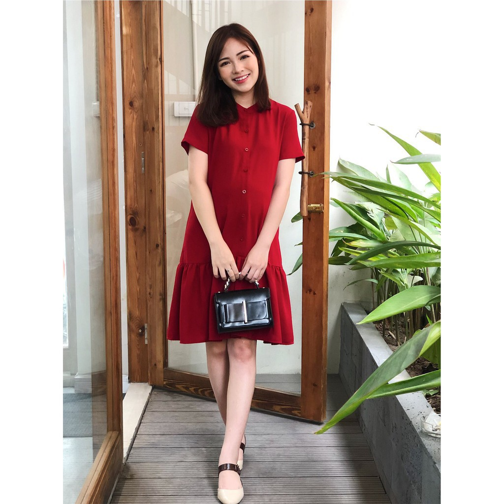 Mặc gì đẹp: Xinh xinh với Váy bầu công sở đi tiệc mùa hè đẹp cao cấp sang trọng, váy bầu dự tiệc sang chảnh - Meemom HD01