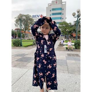 Áo chống nắng toàn thân cho bé 2 lớp vải lanh Nhật thoáng mát hàng đẹp – ao chong nang be toan than 2 lop