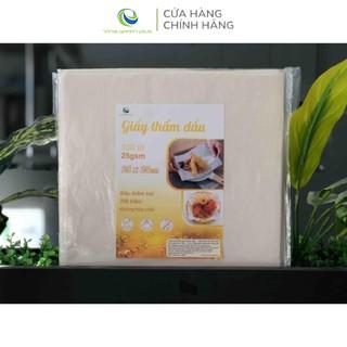 Giấy thấm dầu thực phẩm 100 tờ 25x25cm- Giấy Thấm Hút Dầu Mỡ Chiên Rán-TDD2525100 1