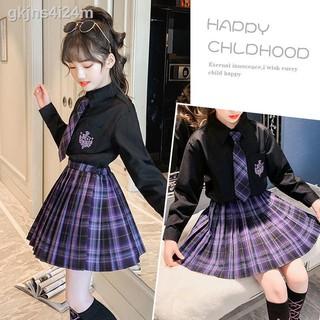 Đồng phục trẻ em jk chính hãng quần áo mùa hè nữ sinh đại học gió xếp ly phù hợp với biểu diễn mới tiểu 12