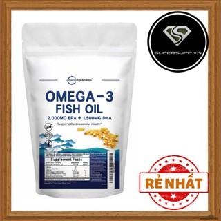 Viên uống bổ sung dầu cá hàm lượng cao Micro Ingredients Omega-3 Fish Oil (300 viên)